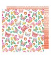 "PAPEL AMERICAN CRAFTS MARIPOSAS BUNNY 12""x12"" 1 UD"