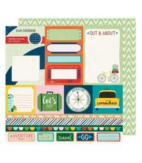"PAPEL RACE GO NOW GO SHIMELLE  12""x12"" 1 UD"