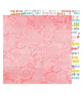 "PAPEL AMY TANGERINE SWEET THINGS 12""x12"" 1 UD"