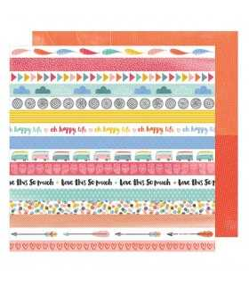 "PAPEL AMY TANGERINE CRUISING ALONG 12""x12"" 1 UD"