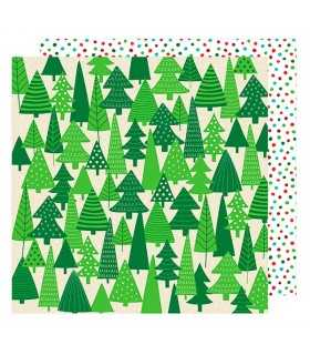 "PAPEL EVERGREENS  AM. CRAFTS 12""x12"" 1 UD"