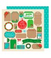 "PAPEL XMAS TAGS  AM. CRAFTS 12""x12"" 1 UD"