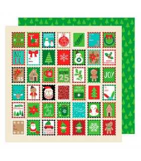 "PAPEL HOLIDAY GREETINGS AM. CRAFTS 12""x12"" 1 UD"