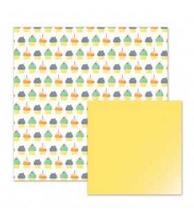 "PAPEL WE R CUPCAKES 12""x12"" 1 UD"