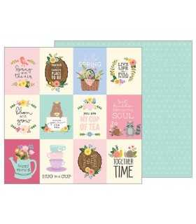 "PAPEL TEA PARTY PEBBLES 12""x12"" 1 UD"