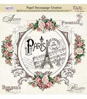 PAPEL DECOUPAGE DAYKA 32x31 CM VINTAGE PARIS