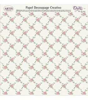PAPEL DECOUPAGE CREATIVO DAYKA 32x31 CM ROSAS