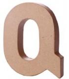LETRAS Y SÍMBOLOS PAPEL MACHÉ 10,2x1,7 CM 1 UD : LETRAS:Q