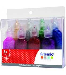PEGAMENTO CON BRILLANTINA ARTEMIO MIX 8x20 ML