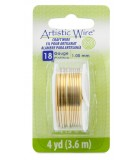 HILO COBRE ARTISTIC WIRE 1,02 MM 3,6 METROS : color:NO TARNISH BRASS