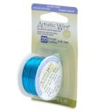 HILO COBRE ARTISTIC WIRE BAÑO PLATA 0,81 MM 5,5 M : ARTISTIC WIRE SILVER PLATED:PEACOCK BLUE