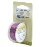 HILO COBRE ARTISTIC WIRE 0,64 MM 7,3 METROS : color:Púrpura