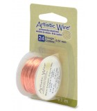 HILO COBRE ARTISTIC WIRE 0,51 MM 9,1 METROS : color:Bare Copper