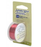 HILO COBRE ARTISTIC WIRE 0,51 MM 9,1 METROS : color:Burgundy
