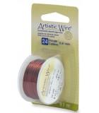 HILO COBRE ARTISTIC WIRE 0,51 MM 9,1 METROS : color:Marrón