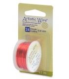 HILO COBRE ARTISTIC WIRE 0,51 MM 9,1 METROS : color:Rojo
