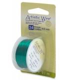 HILO COBRE ARTISTIC WIRE 0,51 MM 9,1 METROS : color:Verde