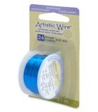 HILO COBRE ARTISTIC WIRE BAÑO PLATA 0,51 MM 9,1 M : ARTISTIC WIRE SILVER PLATED:SILVER BLUE