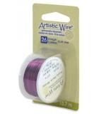 HILO COBRE ARTISTIC WIRE 0,41 MM 13,7 METROS : color:Púrpura