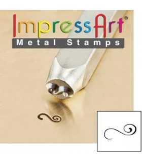 METAL STAMP IMPRESS ART FLOURISH 3 MM