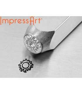 SELLO DE GRABADO METAL IMPRESS ART SOL 6 MM