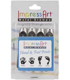 SET PUNZONES IMPRESS ART HUELLAS MANOS Y PIES 4 UD