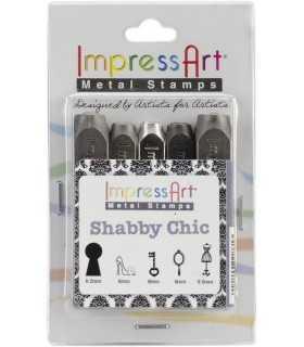 SET PUNZONES IMPRESS ART SHABBY CHIC 5 UD