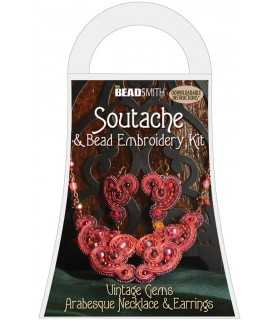 KIT SOUTACHE VINTAGE GEMS ROJO BEAD SMITH