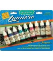 SET PINTURA ACRÍLICA METALIZADA LUMIERE 9x14 ML