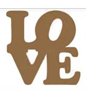 SILUETA DM DAYKA LOVE MODERNO 15,5x15x0,3 CM