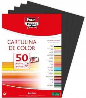 Cartulinas de color negro A4 180 gsm 50 ud