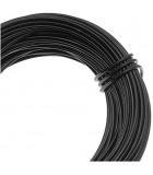 HILO ALUMINIO MODELABLE 18 GAUGE 1 MM 12 METROS : ALUMINIUM WIRE:BK BLACK