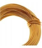 HILO ALUMINIO MODELABLE 18 GAUGE 1 MM 12 METROS : ALUMINIUM WIRE:GO GOLD COLOR