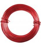 HILO ALUMINIO MODELABLE 18 GAUGE 1 MM 12 METROS : ALUMINIUM WIRE:RD RED