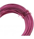 HILO ALUMINIO MODELABLE 12 GAUGE 2 MM 12 METROS : ALUMINIUM WIRE:SP STRONG PINK
