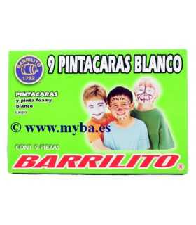 PINTACARAS Y PINTAFOAMY BARRILITO BLANCO 9 UD
