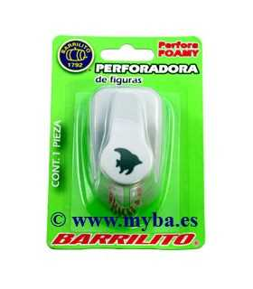 PERFORADOR FOAMY PEZ BARRILITO 16 MM