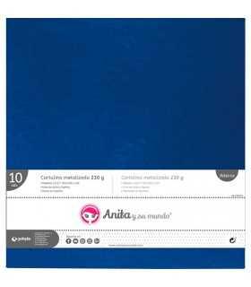 Cartulina metalizada Azul  30x30 CM 230 GSM 10 UD