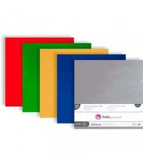 Cartulina metalizada Mix  30x30 CM 230 GSM 10 UD