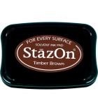 STAZON TAMPÓN TINTA MULTISUPERFICIE SECADO RÁPIDO : STAZON:41 TIMBER BROWN