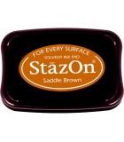STAZON TAMPÓN TINTA MULTISUPERFICIE SECADO RÁPIDO : STAZON:43 SADDLE BROWN