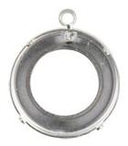 ENGASTE CON ANILLA  PARA COSMIC RING 20 mm 10 UD : Acabado:Baño Plateado