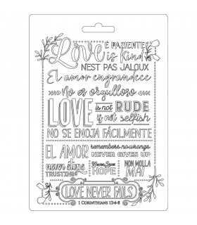 MOLDE FINO MODELADO 21x15 CM LOVE NEVER FALLS