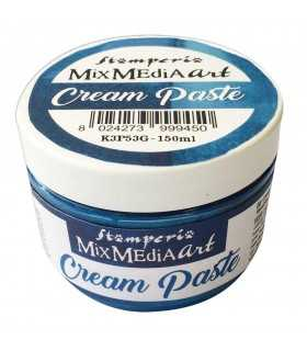 CREAM PASTE STAMPERIA COLOR AZUL METALIZADO 150 ML