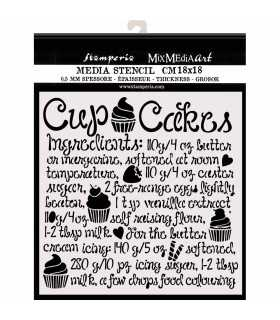 PLANTILLA MIX MEDIA 18x18 CM 0,25 MM CUPCAKE