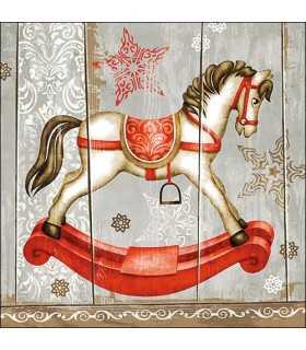 SERVILLETAS AMBIENTE 20UD 33x33cm ROCKING HORSE