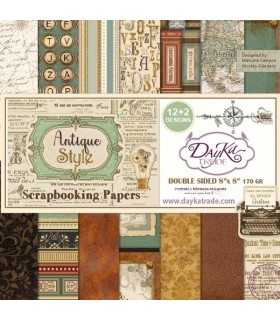 PAPEL SCRAP ANTIQUE STYLE 12+2 20x20 CM