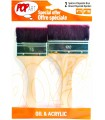 SET 2 BROCHAS POLIAMIDA MARRON PEBEO 950751