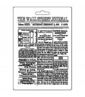 MOLDE FINO MODELADO 21x15 CM WALL STREET JOURNAL