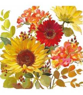 SERVILLETAS AMBIENTE 33x33cm 20UD SUNNY FLOWERS C.